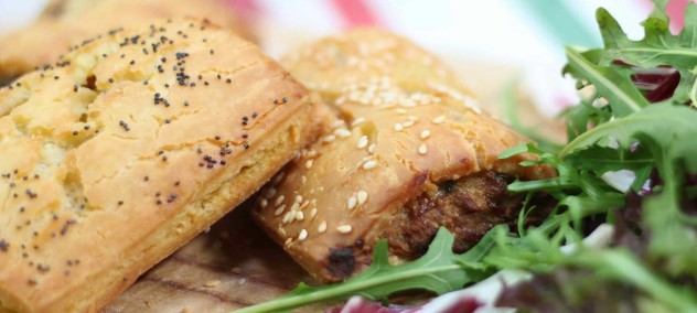 TOP TEN GF Veg & Meat Sausage Rolls